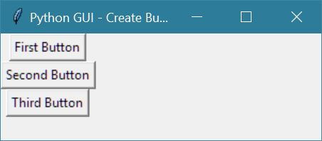 python gui create buttons
