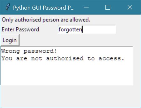 python gui password protected program