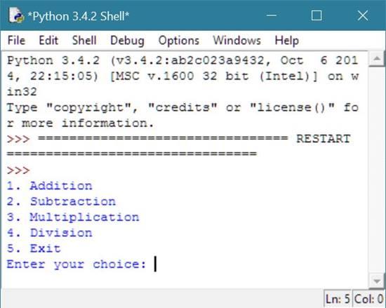 Python Program to Make Calculator