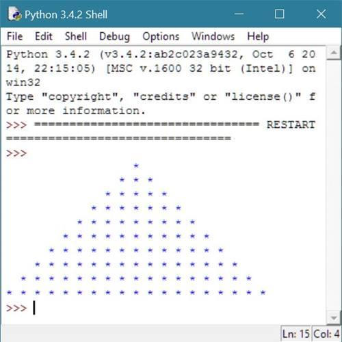 Python Program to Print Star Pyramid Patterns