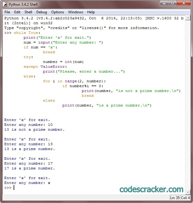 python check prime number