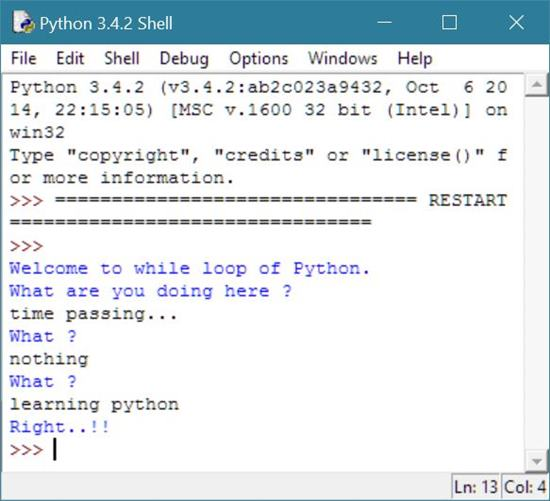 python while loop code