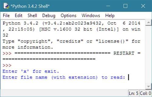 Python Program to Read a File