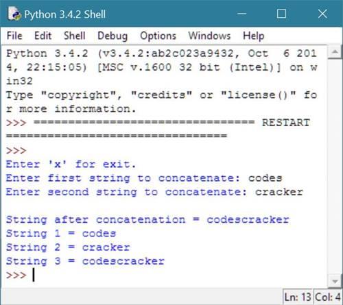 Python Program to Concatenate String