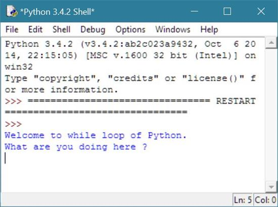 while loop python
